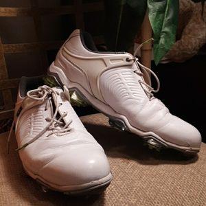 Tour s white golf shoes 9 medium leather